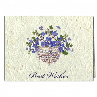 Best Wishes Note Card